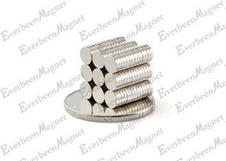 China Rare earth Disc / Round Ndfeb Magnet D12x3mm Nickel Plated for Motors supplier